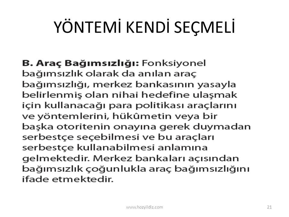YÖNTEMİ KENDİ SEÇMELİ www.hozyildiz.com21