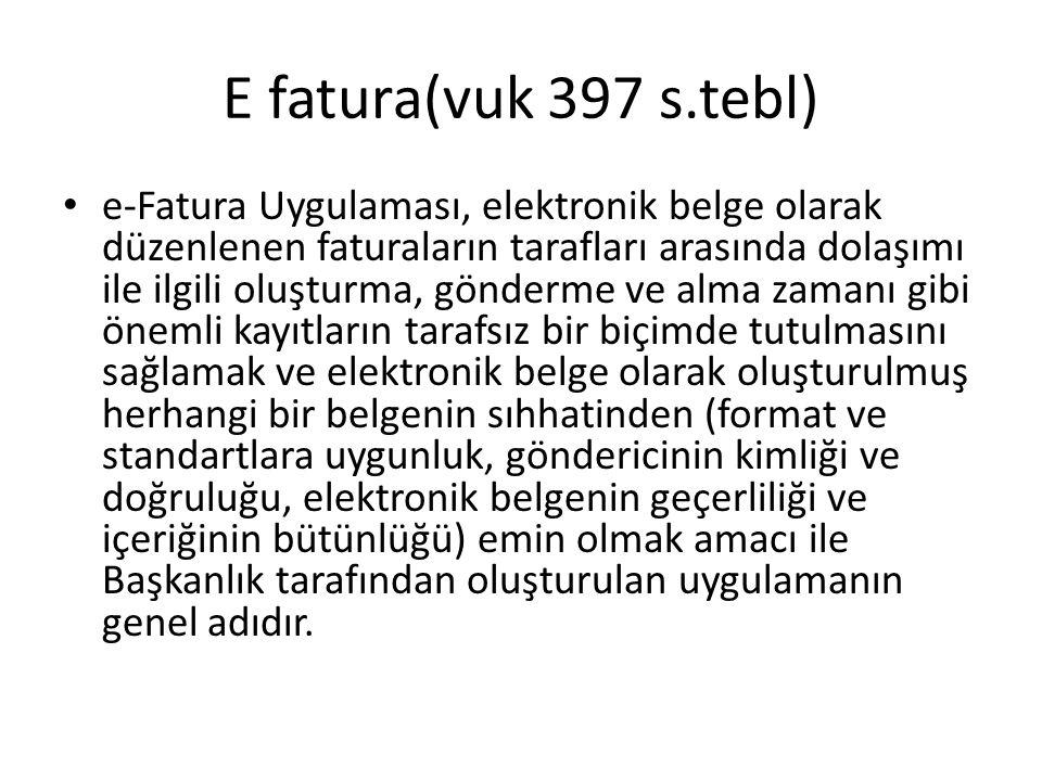 E-fatura ve E-defter Kapsamına giren mükellefler Aşağıda sayılan mükellef gruplarına elektronik defter tutma ve elektronik fatura uygulamasına dahil olma zorunluluğu getirilmiştir.