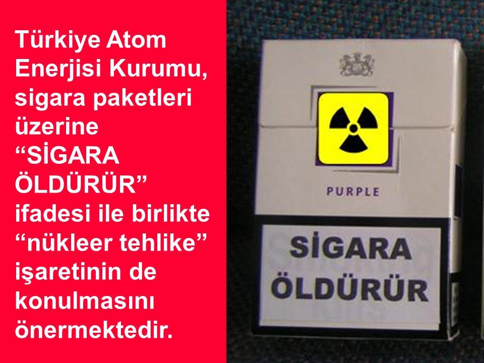 Günde iki paket sigara içen bir kişi, 30 yıllık sürede Hiroşima'ya atılan atom bombasının öldürücü dozuna eş değer radyoaktivite etkisi altında kalmak