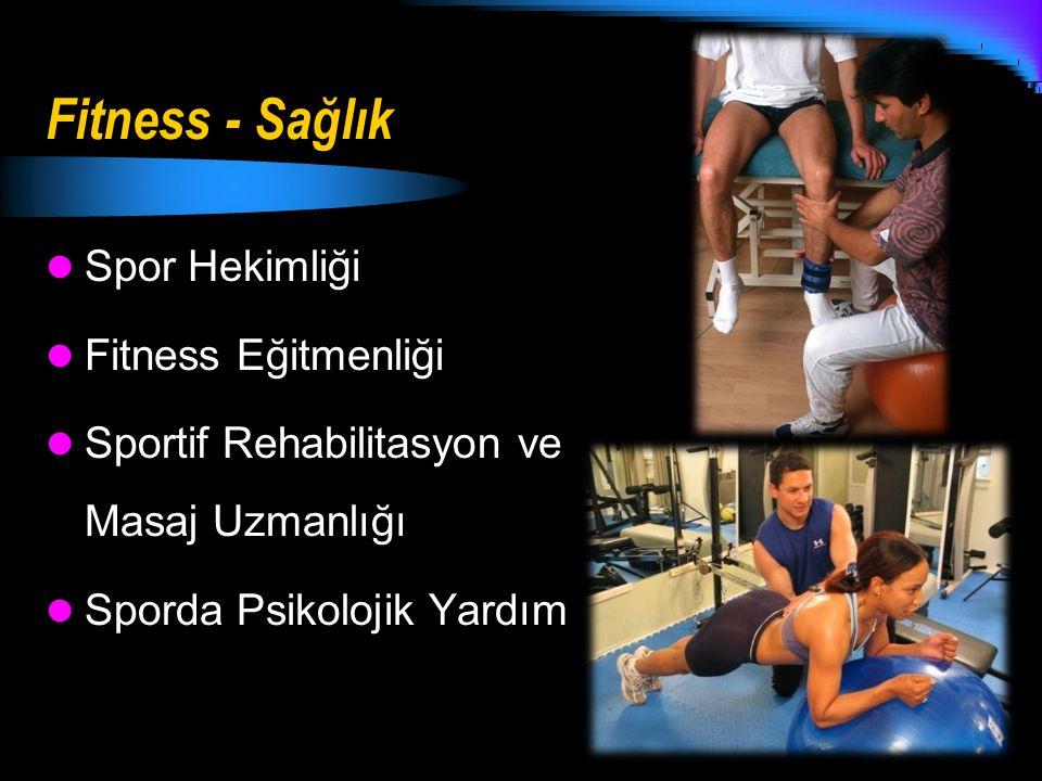 Fitness - Sağlık Spor Hekimliği Fitness Eğitmenliği Sportif Rehabilitasyon ve Masaj Uzmanlığı Sporda Psikolojik Yardım
