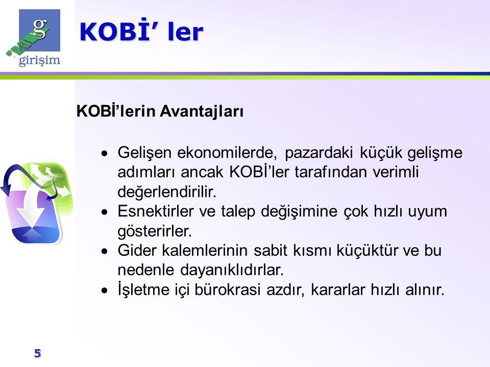 6 KOBİ' lerin Başarısızlık Nedenleri KOBİ' lerin %80-60 arası ilk beş yılda kapanmaktadır.