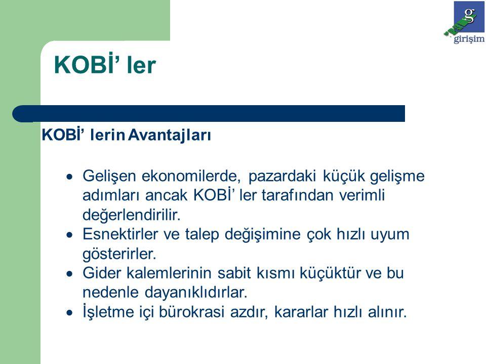 KOBİ' lerin Başarısızlık Nedenleri KOBİ' lerin %80-60 arası ilk beş yılda kapanmaktadır.