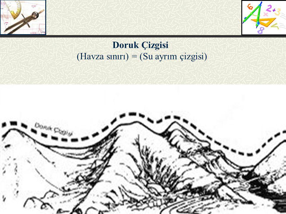 Doruk Çizgisi (Havza sınırı) = (Su ayrım çizgisi)