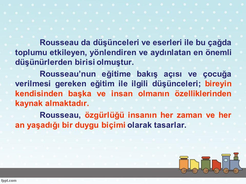 Rousseau nun amacı, insanın doğası gereği iyi bir varlık olduğunu ve kurumlar nedeniyle kötüleştiğini göstermekti.