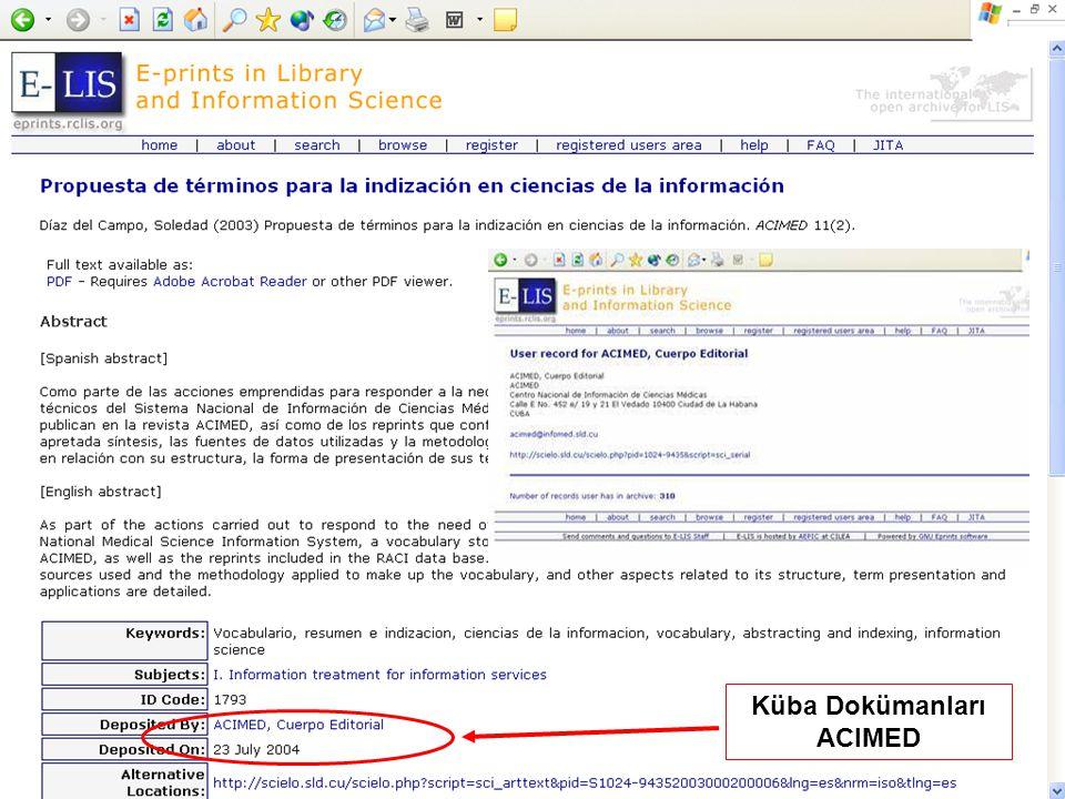 Küba Dokümanları ACIMED