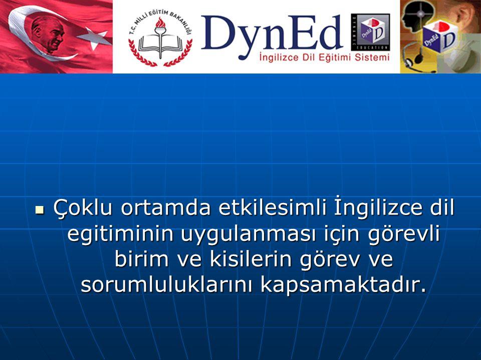 TANIMLAR DynEd Merkez Destek Ekibi: okullarında kullanılması için gerekli olan tüm merkezî hizmet ve desteği vermekten sorumlu ekibidir.