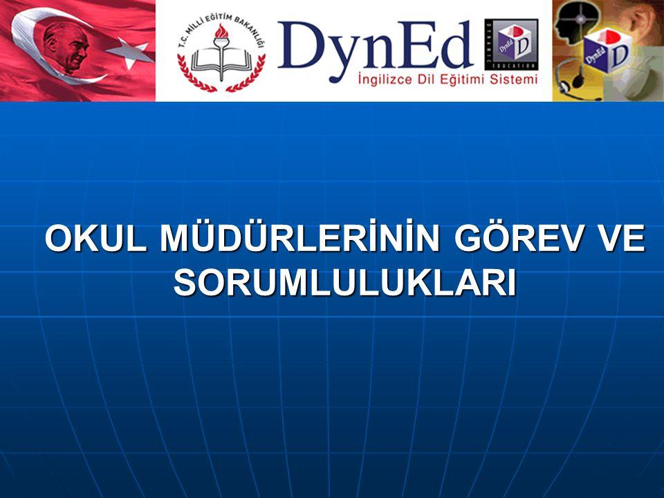 1.DynEd İngilizce Dil Eğitimi Sistemi'nin ilköğretim okullarında kurulması ve 4 – 8.