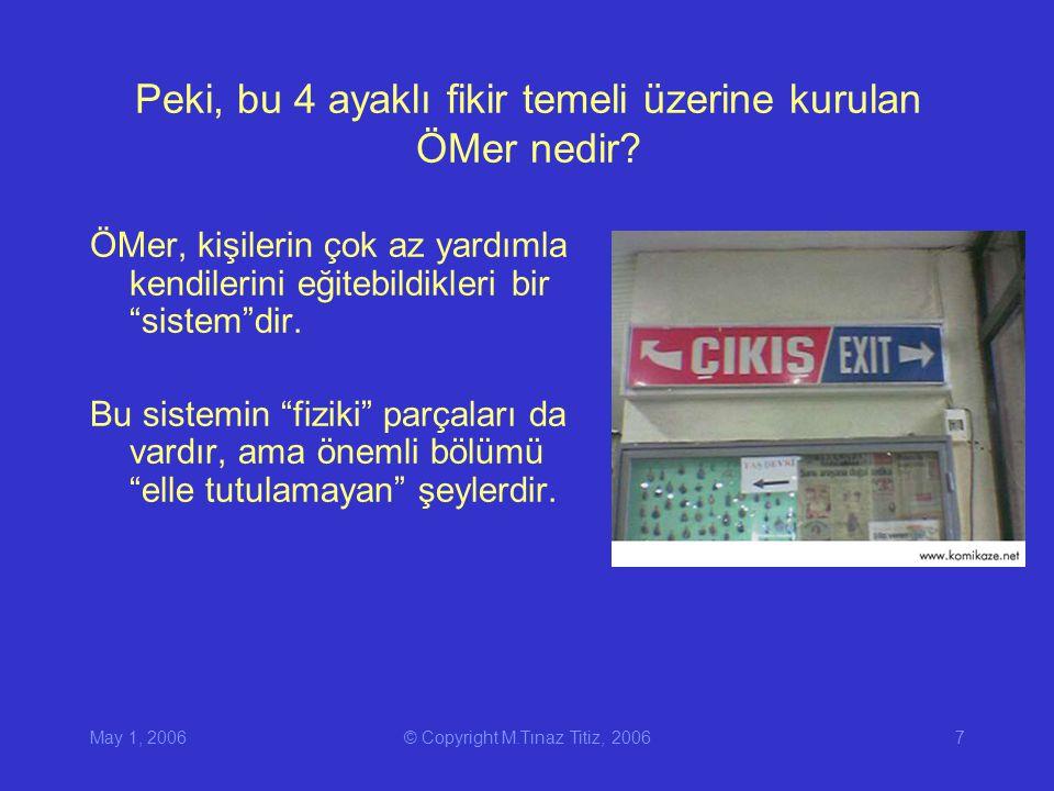 May 1, 2006© Copyright M.Tınaz Titiz, 20067 Peki, bu 4 ayaklı fikir temeli üzerine kurulan ÖMer nedir.