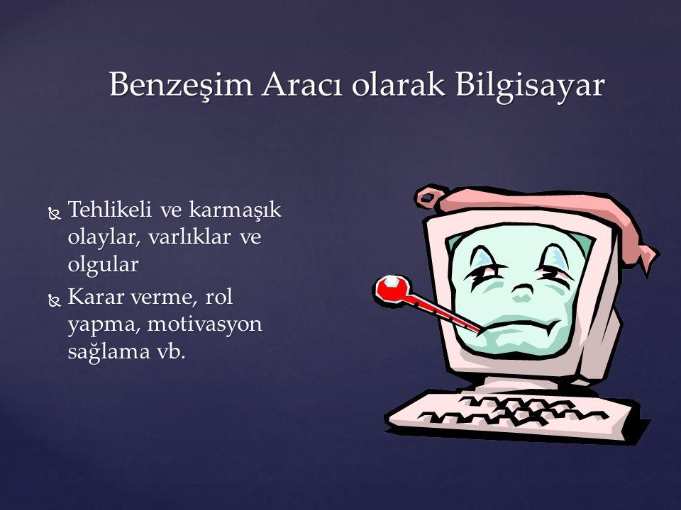 Oyun aracı olarak Bilgisayar  Küçük çocukların öğrenmesinin doğal ve zorunlu bir parçası  Psikomotor becerileri, bireysel yeterlikler vb.