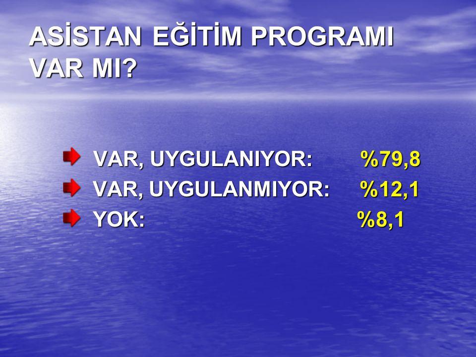 ASİSTAN EĞİTİM PROGRAMI VAR MI.
