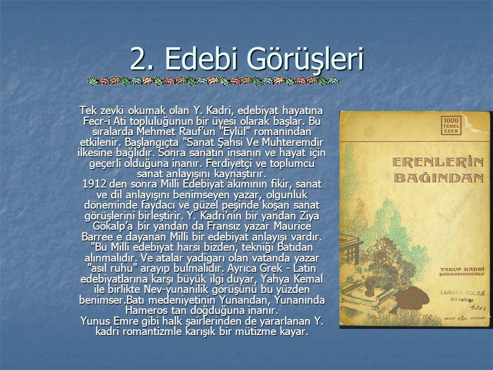 Eser Özetleri ( Devam ) Sodom ve Gomore Sodom ve Gomore İşgal yıllarının İstanbul unu konu edinen Sodom ve Gomore, Yakup Kadri nin romanları arasında zaman bakımından Hüküm Gecesi nin devamı sayılır.