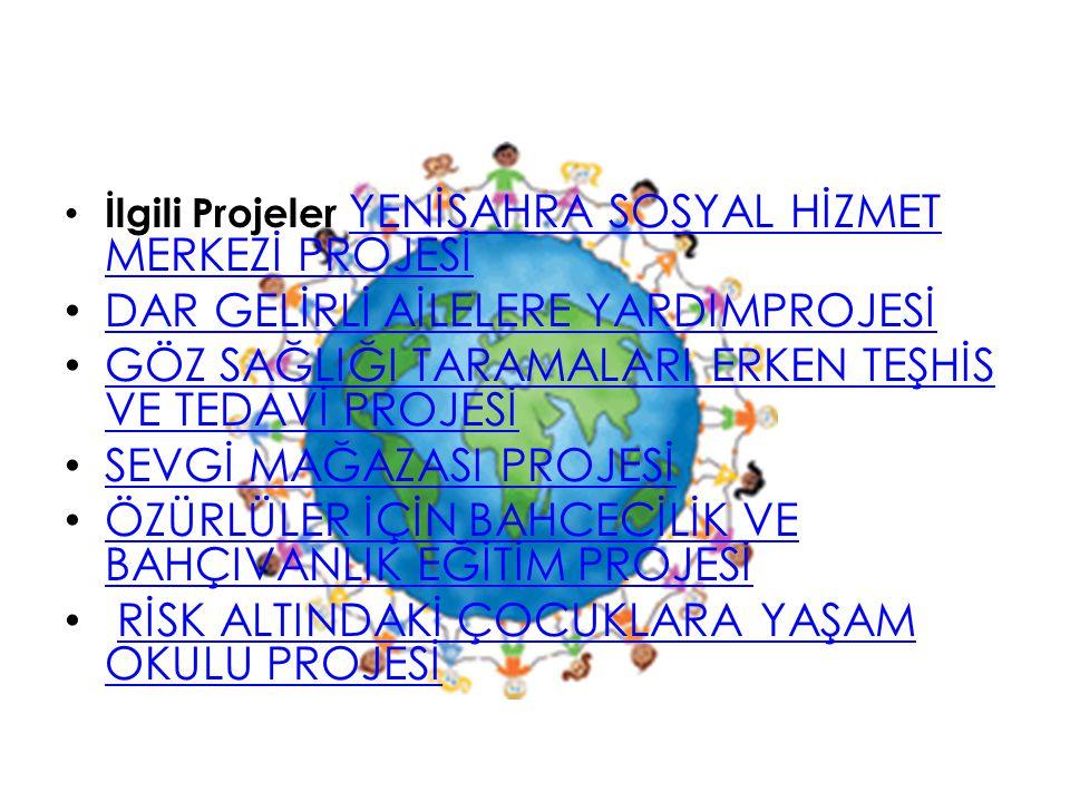 İlgili Projeler YENİSAHRA SOSYAL HİZMET MERKEZİ PROJESİ YENİSAHRA SOSYAL HİZMET MERKEZİ PROJESİ DAR GELİRLİ AİLELERE YARDIMPROJESİ GÖZ SAĞLIĞI TARAMAL