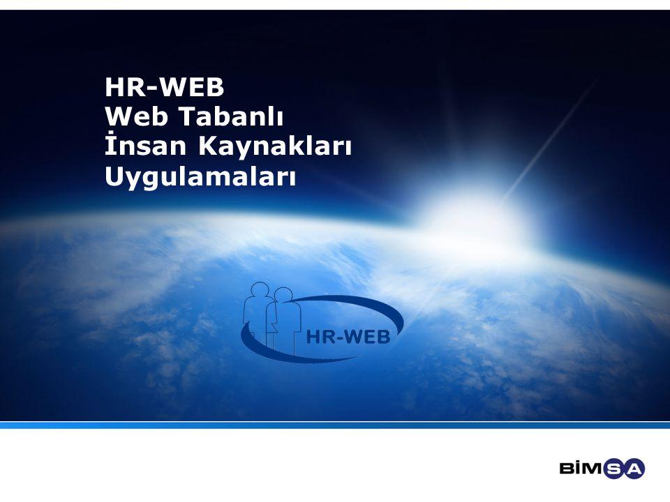 HR-WEB Web Tabanlı İnsan Kaynakları Uygulamaları