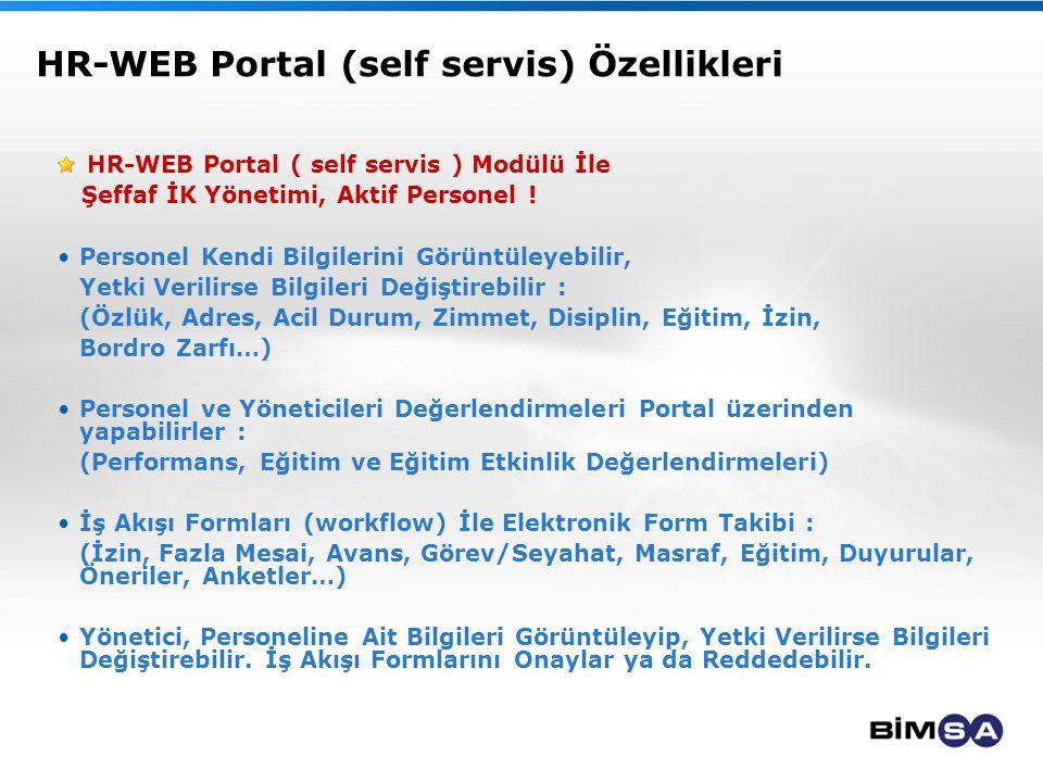 HR-WEB Portal (self servis) Özellikleri HR-WEB Portal ( self servis ) Modülü İle Şeffaf İK Yönetimi, Aktif Personel ! Personel Kendi Bilgilerini Görün