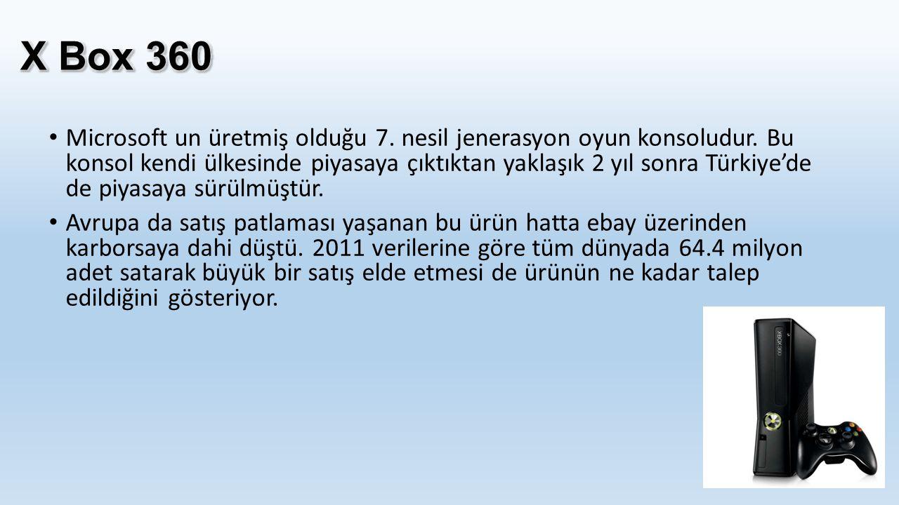 'Pahalı oyuncaklar' diye nitelendirilen bu oyun konsolları nitekim Türkiye'de Playstation kadar bir hedef kitleye ulaşabilmiş değil.