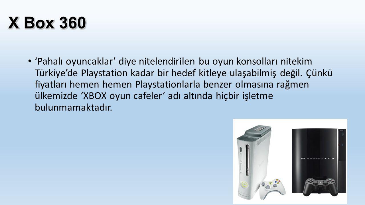 'Pahalı oyuncaklar' diye nitelendirilen bu oyun konsolları nitekim Türkiye'de Playstation kadar bir hedef kitleye ulaşabilmiş değil. Çünkü fiyatları h