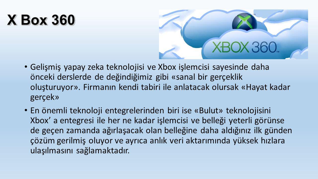Gelişmiş yapay zeka teknolojisi ve Xbox işlemcisi sayesinde daha önceki derslerde de değindiğimiz gibi «sanal bir gerçeklik oluşturuyor». Firmanın ken