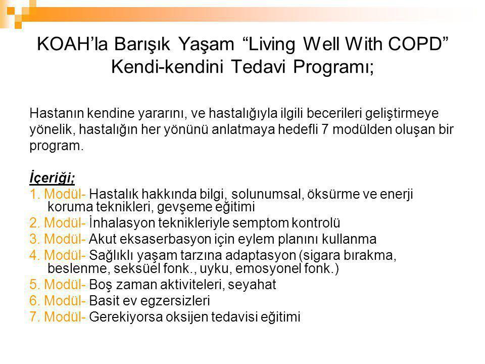 KOAH'la Barışık Yaşam Living Well With COPD Kendi-kendini Tedavi Programı 7.