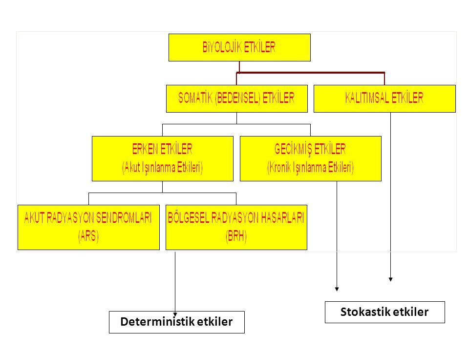 Stokastik etkiler Deterministik etkiler