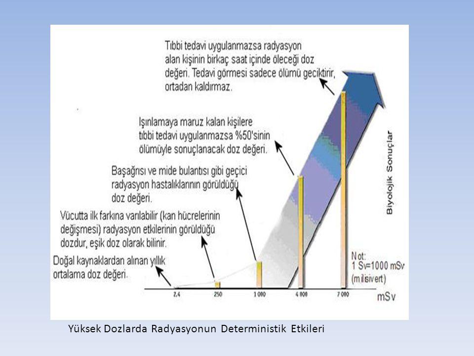 Yüksek Dozlarda Radyasyonun Deterministik Etkileri
