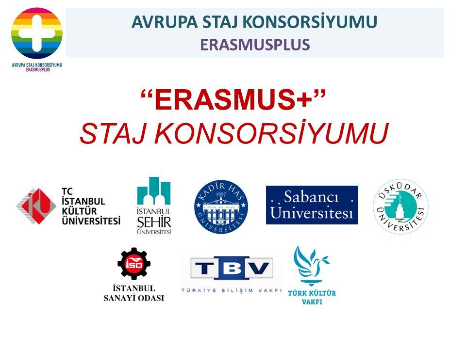 ''ERASMUS+'' STAJ KONSORSİYUMU AVRUPA STAJ KONSORSİYUMU ERASMUSPLUS