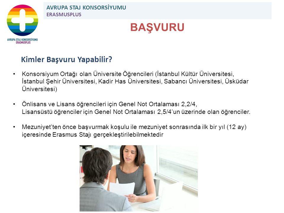 BAŞVURU Kimler Başvuru Yapabilir? Konsorsiyum Ortağı olan Üniversite Öğrencileri (İstanbul Kültür Üniversitesi, İstanbul Şehir Üniversitesi, Kadir Has