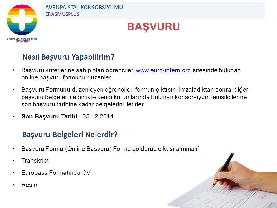 Nasıl Başvuru Yapabilirim? Başvuru kriterlerine sahip olan öğrenciler, www.euro-intern.org sitesinde bulunan online başvuru formunu düzenler,www.euro-