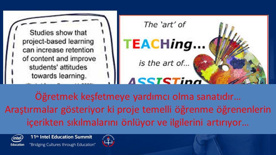 Öğretmek keşfetmeye yardımcı olma sanatıdır… Araştırmalar gösteriyor ki proje temelli öğrenme öğrenenlerin içerikten sıkılmalarını önlüyor ve ilgileri