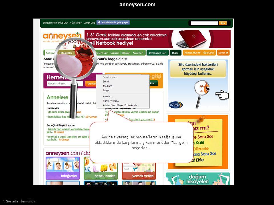 """anneysen.com * Görseller temsilidir Ayrıca ziyaretçiler mouse'larının sağ tuşuna tıkladıklarında karşılarına çıkan menüden """"Large"""" ı seçerler…"""