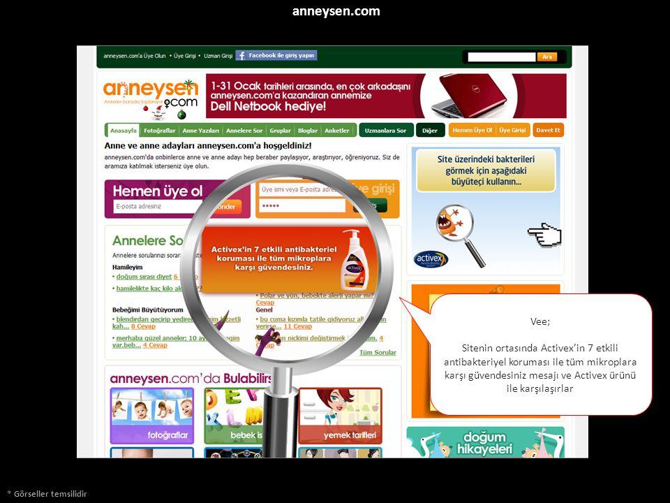 anneysen.com * Görseller temsilidir Vee; Sitenin ortasında Activex'in 7 etkili antibakteriyel koruması ile tüm mikroplara karşı güvendesiniz mesajı ve