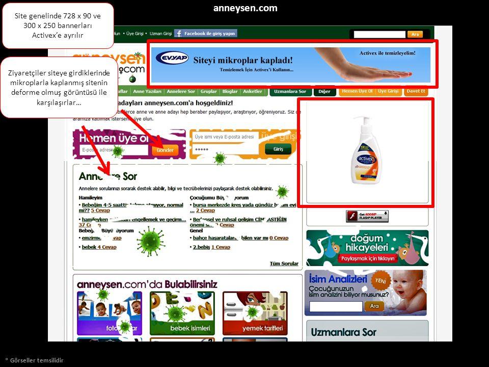* Görseller temsilidir Ziyaretçiler siteye girdiklerinde mikroplarla kaplanmış sitenin deforme olmuş görüntüsü ile karşılaşırlar… anneysen.com Site ge
