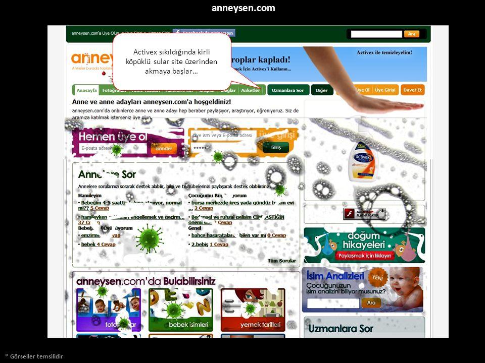 * Görseller temsilidir Activex sıkıldığında kirli köpüklü sular site üzerinden akmaya başlar… anneysen.com