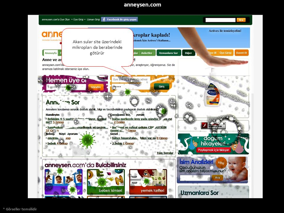 * Görseller temsilidir Akan sular site üzerindeki mikropları da beraberinde götürür anneysen.com