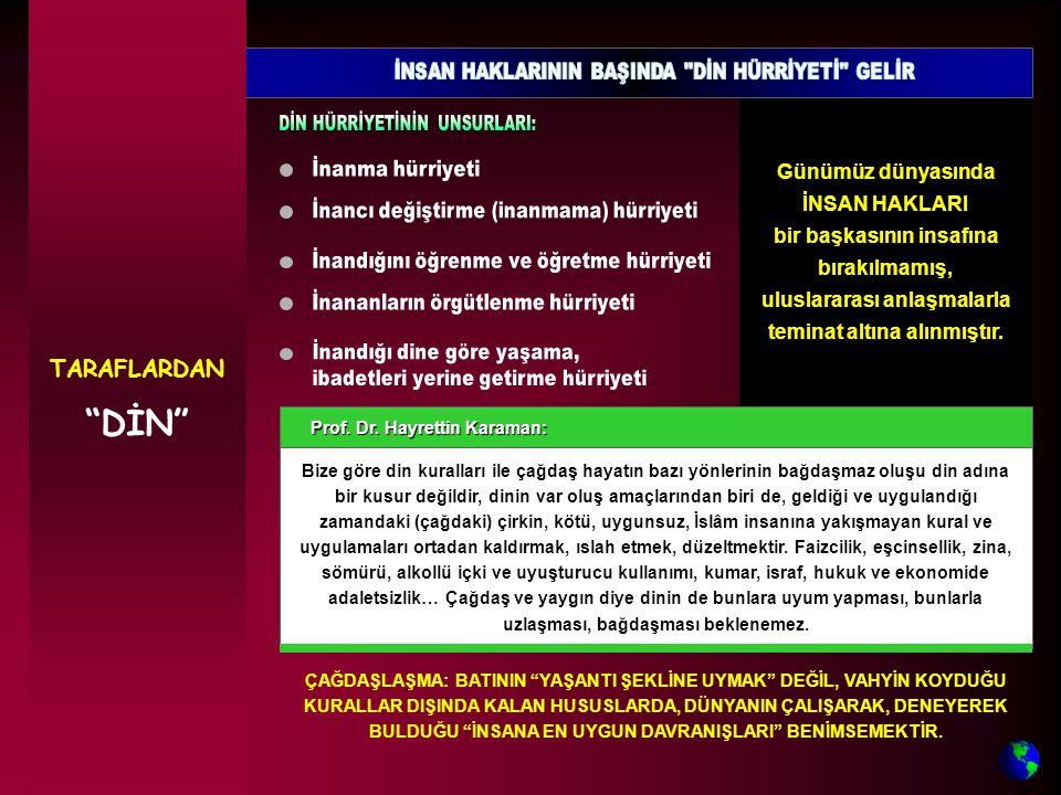 Prof. Dr. Hayrettin Karaman: Prof. Dr.