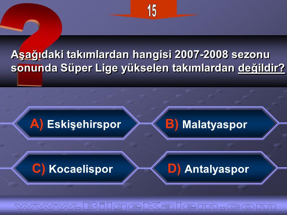Aşağıdaki takımlardan hangisi 2007-2008 sezonu sonunda Süper Lige yükselen takımlardan değildir.