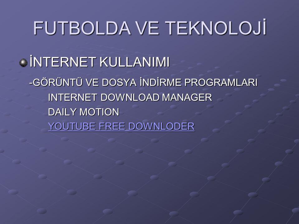 FUTBOLLA İLGİLİ SİTELER Uefa.com İnside soccer Elit soccer Coaching soccer Soccer tutor World class coachıng Futbola özgü antrenman görüntüsü,drilleri ve dosyaları izleyip indirebileceğiniz siteler