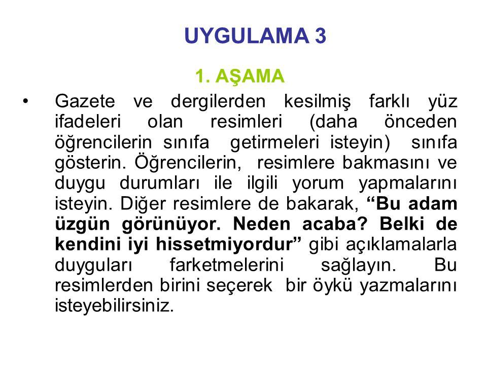 UYGULAMA 3 1.