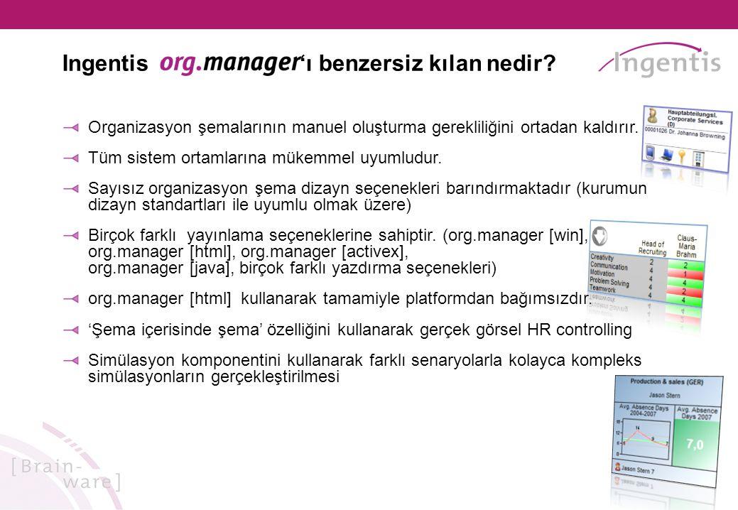 Organizasyon şemalarının manuel oluşturma gerekliliğini ortadan kaldırır.