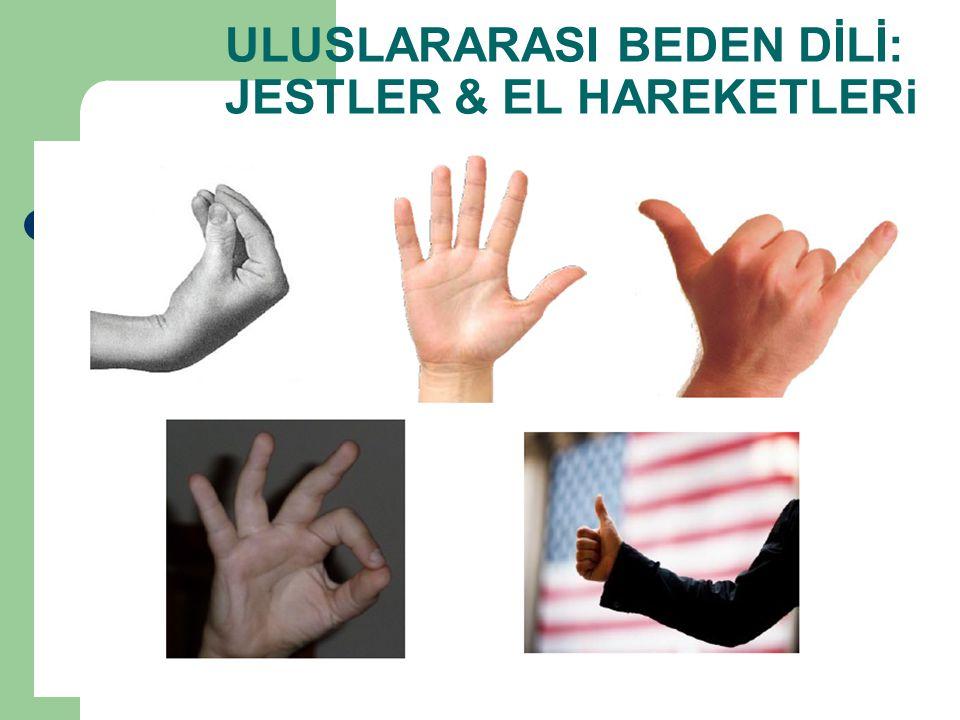 ULUSLARARASI BEDEN DİLİ: JESTLER & EL HAREKETLERi