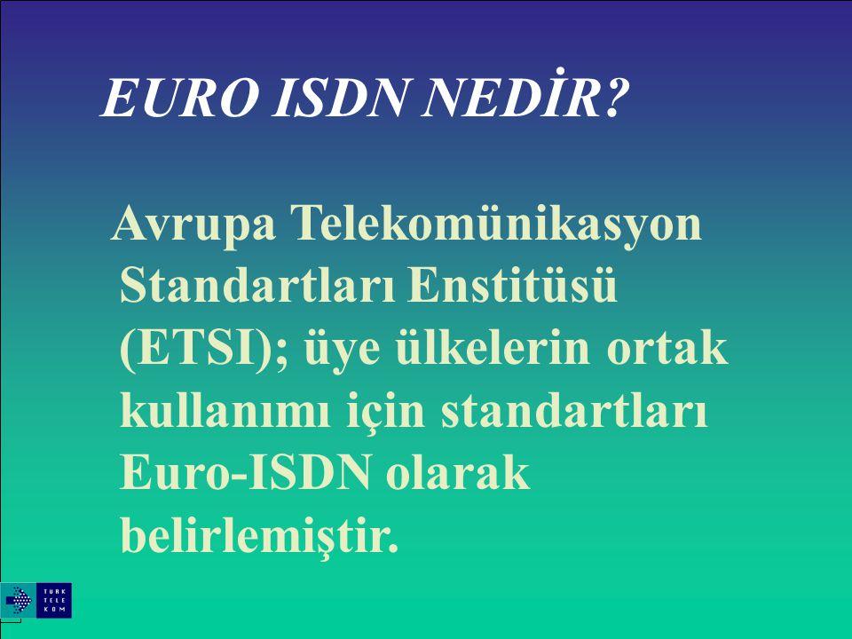 ENTEGRE SERVİSLER SAYISAL ŞEBEKESİ (ISDN) Şu anda 45'den fazla ülkede işletmeci ISDN hizmeti sunulmaktadır.