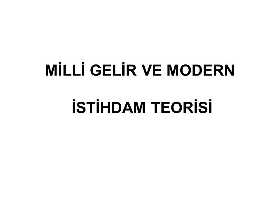 MİLLİ GELİR VE MODERN İSTİHDAM TEORİSİ