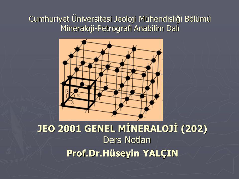 GİRİŞ Mineraloji sözcüğü mineralis veya mineral (Latince yerkabuğundan çıkarılan madde) ve logos (eski Yunanca bilim) sözcüklerinden türetilmiştir.