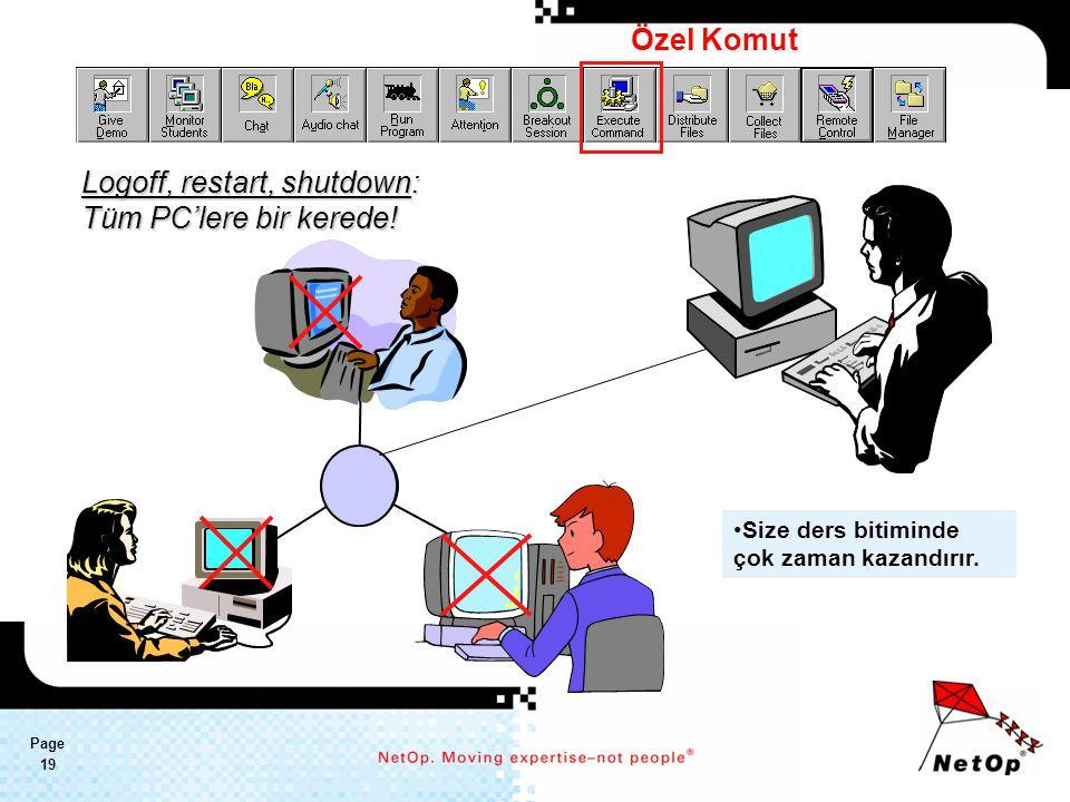 Page 19 Logoff, restart, shutdown: Tüm PC'lere bir kerede.