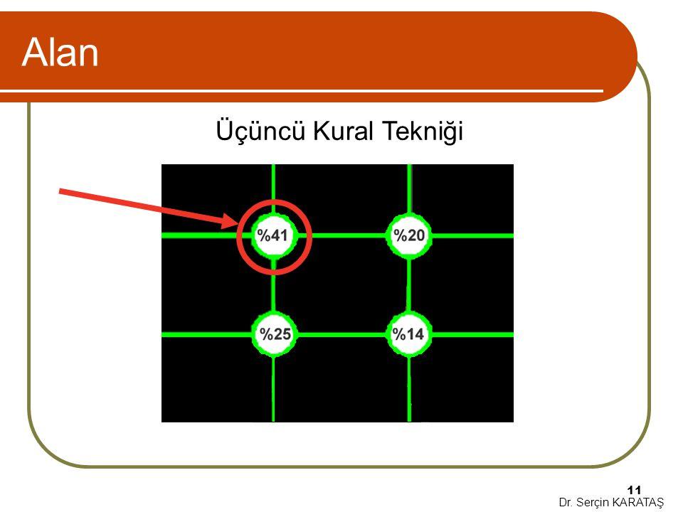 Dr. Serçin KARATAŞ 11 Alan Üçüncü Kural Tekniği