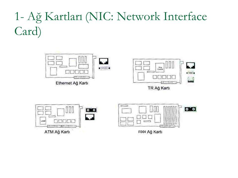 1.1 Ethernet Kartı LAN uygulamalarında yaygın olarak kullanılırlar.
