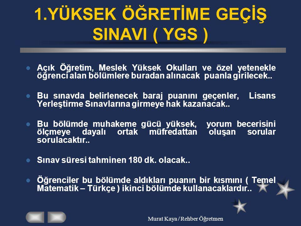 Murat Kaya / Rehber Öğretmen 2.