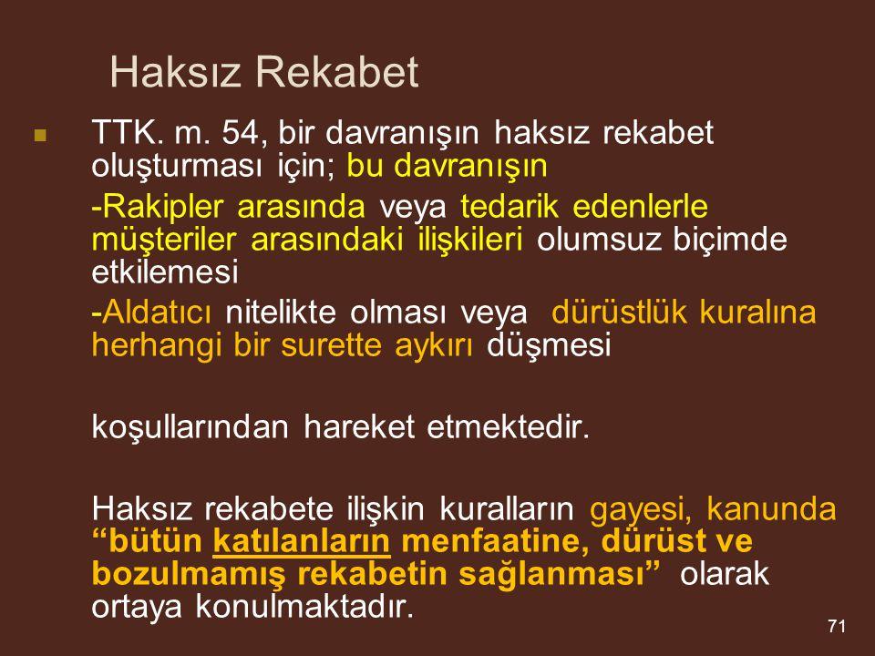 Haksız Rekabet TTK.m.