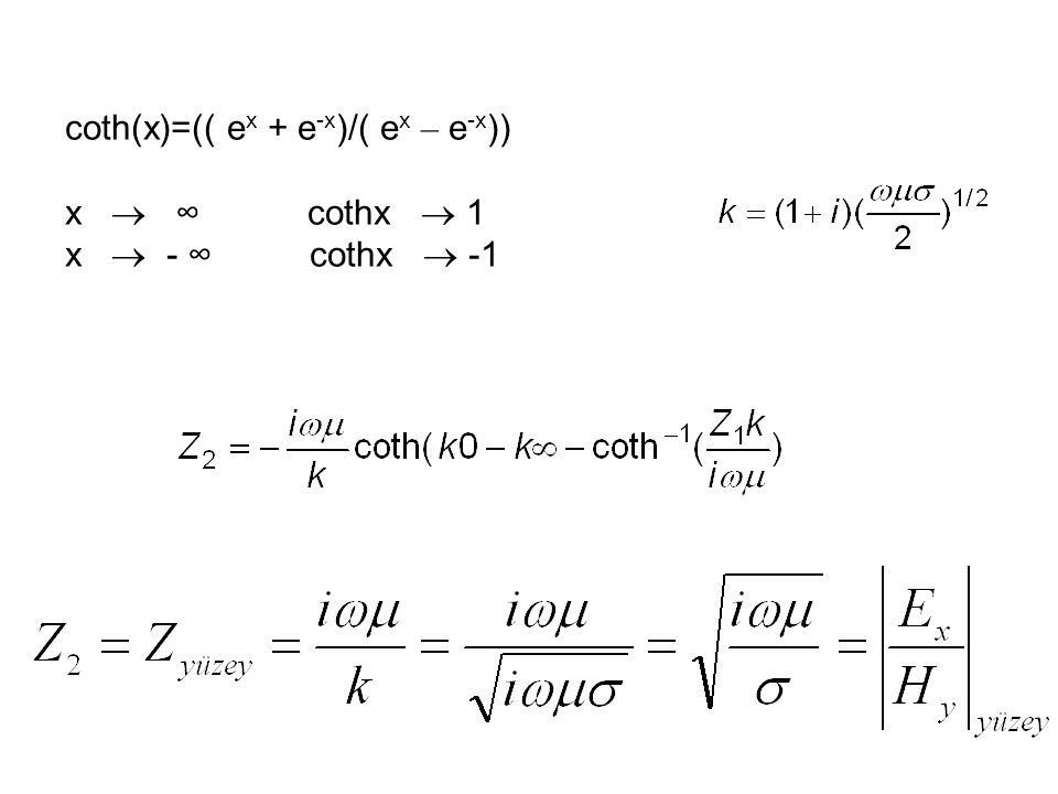 coth(x)=(( e x + e -x )/( e x – e -x )) x  ∞ cothx  1 x  - ∞ cothx  -1