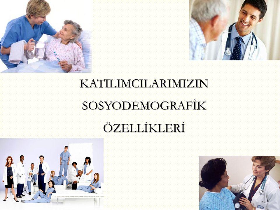 KATILIMCILARIMIZIN SOSYODEMOGRAFİK ÖZELLİKLERİ