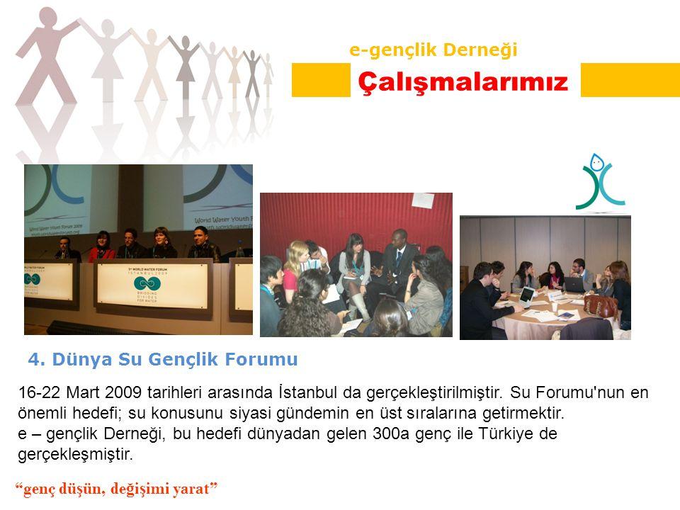 4. Dünya Su Gençlik Forumu 16-22 Mart 2009 tarihleri arasında İstanbul da gerçekleştirilmiştir.